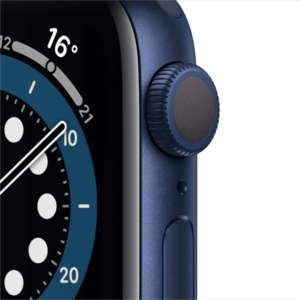 Смарт-часы Apple Watch S6 44mm Blue Aluminum Case with Deep Navy Sport Band M00J3
