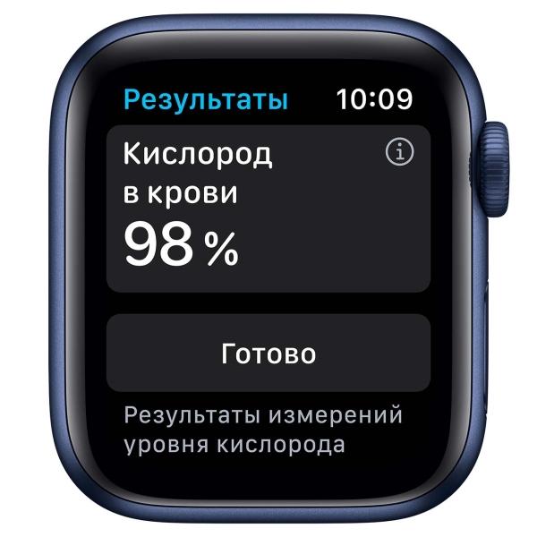 Смарт-часы Apple Watch S6 44mm Blue Aluminum Case with Deep Navy Sport Band M00J3