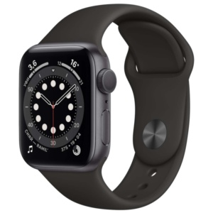 Смарт-часы Apple Watch S6 44mm Space Gray Aluminum Case with Black Sport Band M00H3RU/A