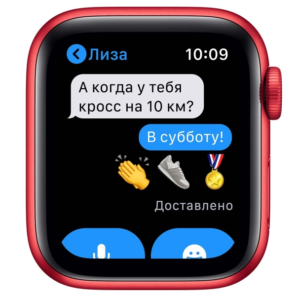 Смарт-часы Apple Watch S6 40mm PRODUCT(RED) Aluminum Case with PRODUCT(RED) Sport Band M00A3RU/A