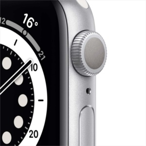 Смарт-часы Apple Watch S6 40mm Silver Aluminum Case with White Sport Band MG283RU/A