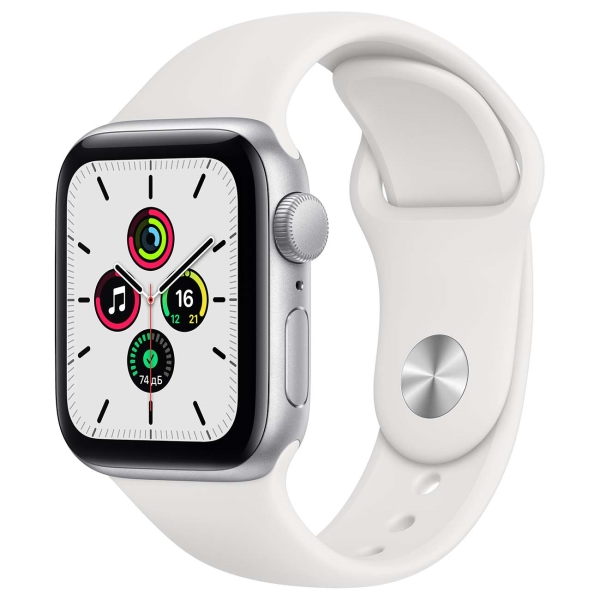 Смарт-часы Apple Watch SE 40mm Silver Aluminum Case with White Sport Band MYDM2RU/A