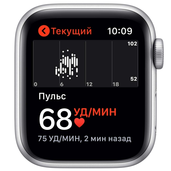 Смарт-часы Apple Watch SE 40mm Silver Aluminum Case with White Sport Band