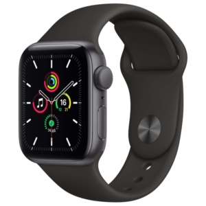 Смарт-часы Apple Watch SE 40mm Space Gray Aluminum Case with Black Sport Band MYDP2RU/A