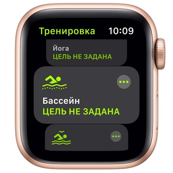 Смарт-часы Apple Watch SE 44mm Gold Aluminum Case with Pink Sand Sport Band