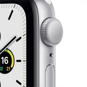 Смарт-часы Apple Watch SE 44mm Silver Aluminum Case with White Sport Band MYDQ2RU/A