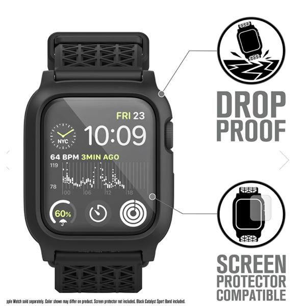 Водонепроницаемый чехол Catalyst Waterproof Case for Apple Watch Series SE, 6, 5, & 4 черный