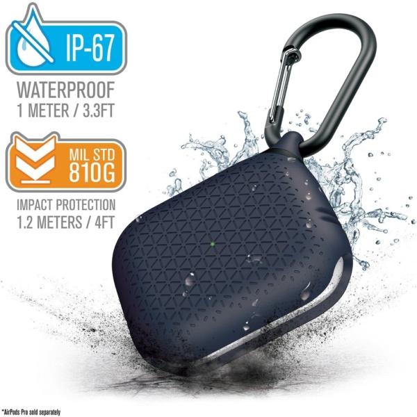 Водонепроницаемый чехол Catalyst Waterproof Premium Case для AirPods Pro, тёмно-синий