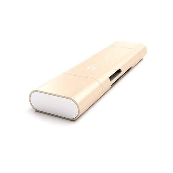 Картридер Micro/SD Satechi Type-C USB 3.0 для MacBook 12 ST-TCCRAG (Золотой)