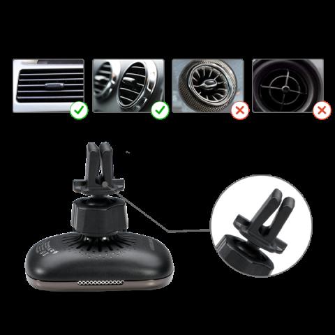 Автомобильный комплект держателей Pitaka с зарядкой MagEZ Mount Qi с присоской и держателем для воздуховода