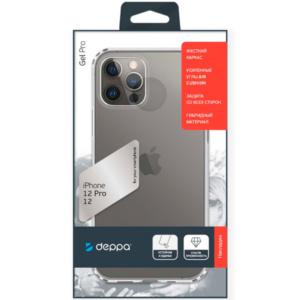 Силиконовый чехол Чехол Deppa Gel Pro iPhone 12 Pro/12 прозрачный