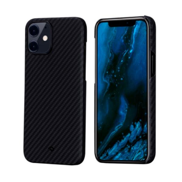 """Кевларовый чехол Pitaka MagEZ Case для iPhone 12 6.1"""", черно-серый"""