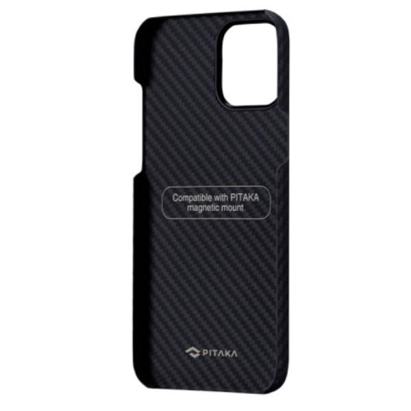 """Кевларовый чехол Pitaka MagEZ Case для iPhone 12 Pro 6.1"""", черно-серый"""
