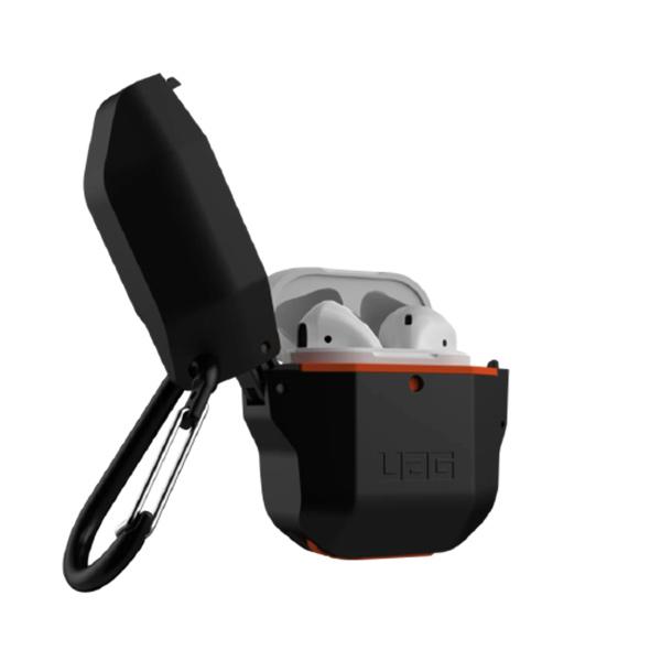 Противоударный чехол для Airpods 1/2 UAG Hardcase, чёрно-оранжевый