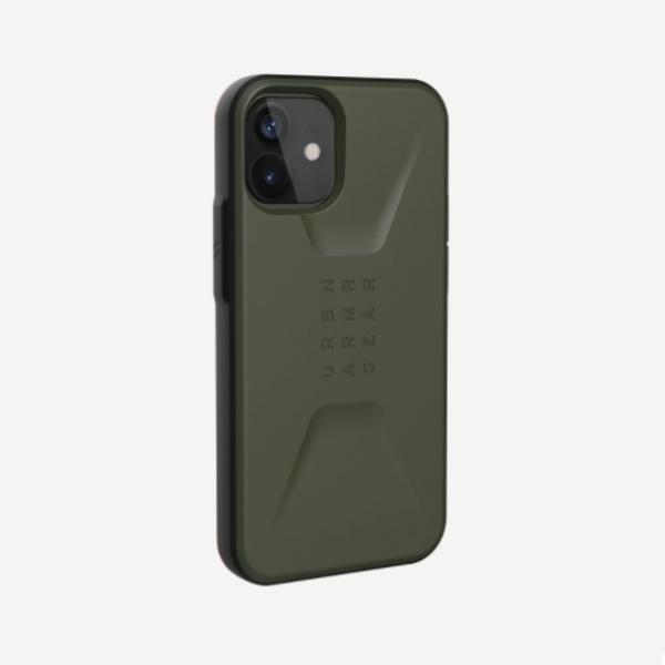 Противоударный чехол Uag Civilian iPhone 12 mini 5.4 оливковый (Olive Drab)