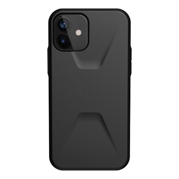 """Противоударный чехол Uag Civilian для iPhone 12 Pro 6.1"""" черный (Black)"""