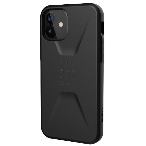 """Противоударный чехол Uag Civilian для iPhone 12 6.1"""" черный (Black)"""