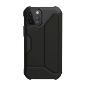 """Чехол-книжка Uag Metropolis PU полиуретан для iPhone 12 Pro 6.1"""" черный (Black)"""