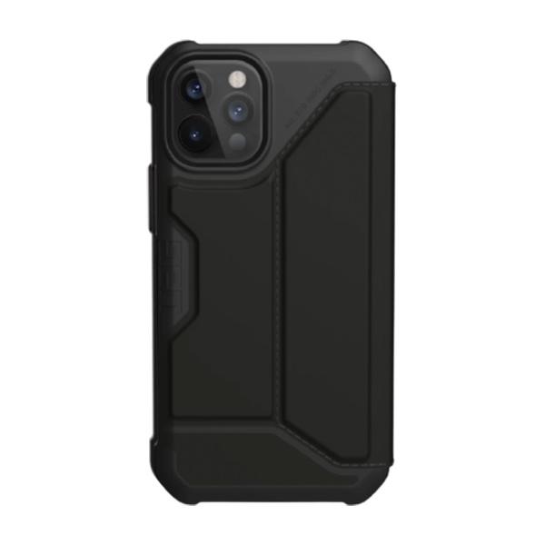 """Чехол-книжка Uag Metropolis PU для iPhone 12 Pro Max 6.7""""черный (SATN ARMR Black)"""