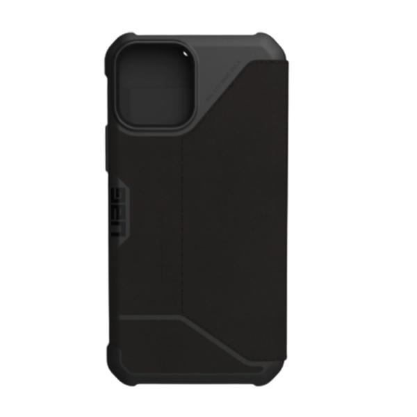 """Чехол-книжка Uag Metropolis кожа для iPhone 12 6.1"""" черный (Black-Kevlar)"""