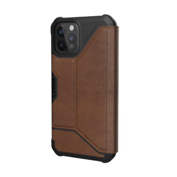 """Чехол-книжка Uag Metropolis кожа для iPhone 12 Pro 6.1"""" коричневый (Brown)"""