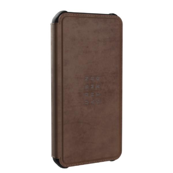 "Чехол-книжка Uag Metropolis кожа для iPhone 12 Pro Max 6.7"" коричневый (Brown)"
