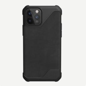 """Кожаный чехол Uag Metropolis LT для iPhone 12 Pro 6.1"""" черный (Black)"""