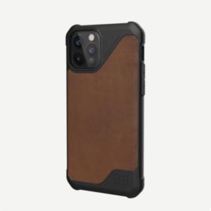 """Кожаный чехол Uag Metropolis LT для iPhone 12 Pro Max 6.7"""" коричневый (Brown)"""