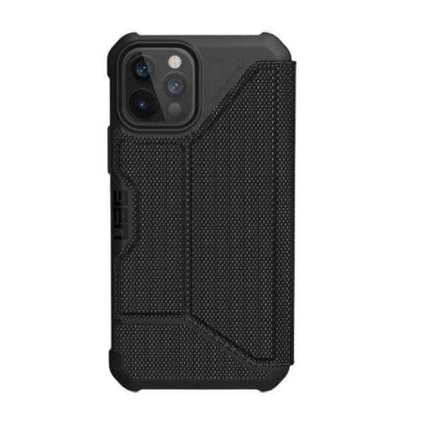 """Чехол-книжка Uag Metropolis кевлар для iPhone 12 Pro 6.1"""" черный (Black-Kevlar)"""