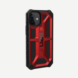 Противоударный чехол Uag Monarch iPhone 12 mini 5.4 красный (Crimson)