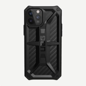 """Противоударный чехол Uag Monarch для iPhone 12 Pro 6.1"""" чёрный карбон (Carbon Fiber)"""