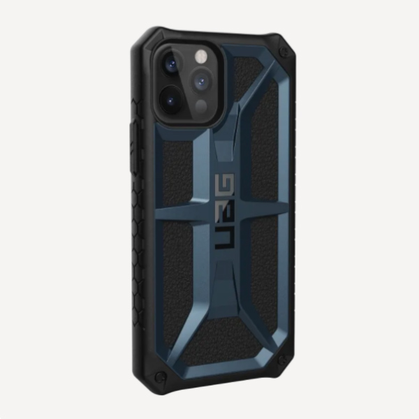 "Противоударный чехол Uag Monarch для iPhone 12 6.1"" темно-синий (Mallard)"
