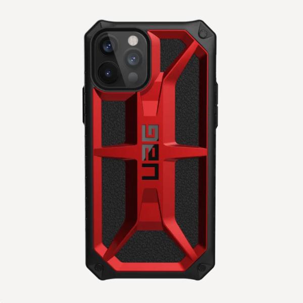 """Противоударный чехол Uag Monarch для iPhone 12 Pro 6.1"""" красный (Crimson)"""