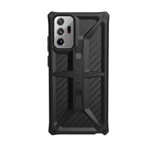 Противоударный чехол Uag Monarch для Samsung Note 20 Ultra чёрный карбон