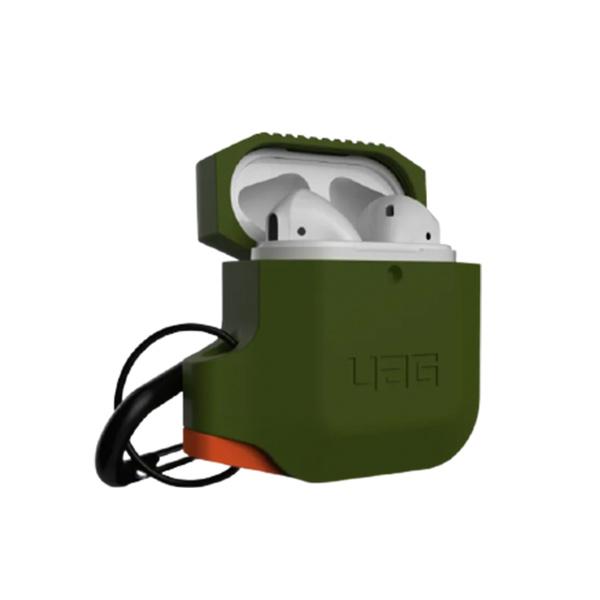 Силиконовый чехол для Airpods 1/2 UAG Silicone Case, оливково/оранжевый