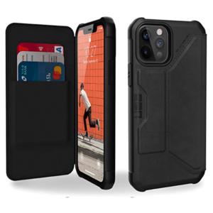 """Чехол-книжка Uag Metropolis кожа для iPhone 12 Pro 6.1"""" черный (Black)"""