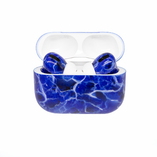 Беспроводные наушники Apple AirPods Pro Custom Edition мрамор синий глянец