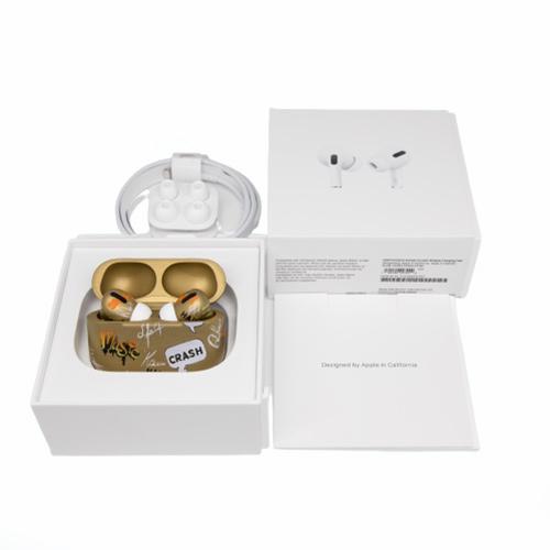 Беспроводные наушники Apple AirPods Pro Custom Edition бордовый золотой матовый