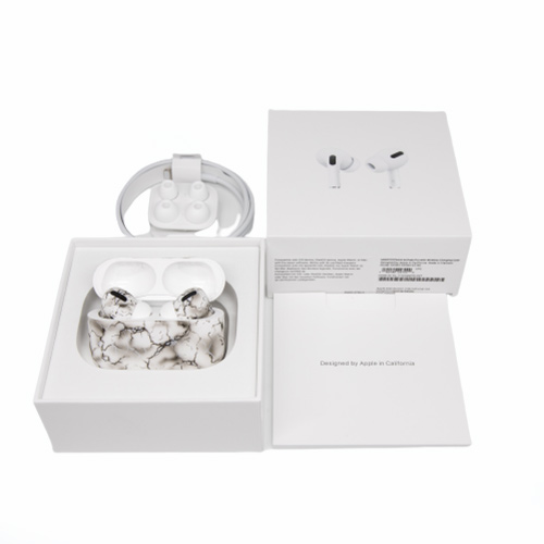 Беспроводные наушники Apple AirPods Pro Custom Edition белый мрамор