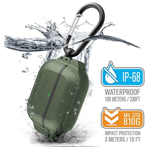 Catalyst Total Protection противоударный чехол для Airpods Pro зеленый