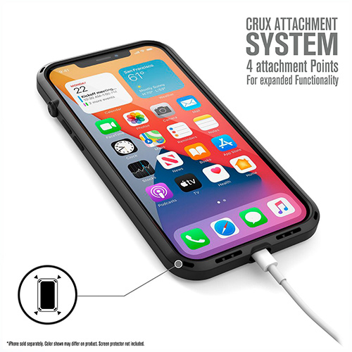 """Противоударный чехол Catalyst Influence Series Case для iPhone 12 Pro Max 6.7"""", черный"""