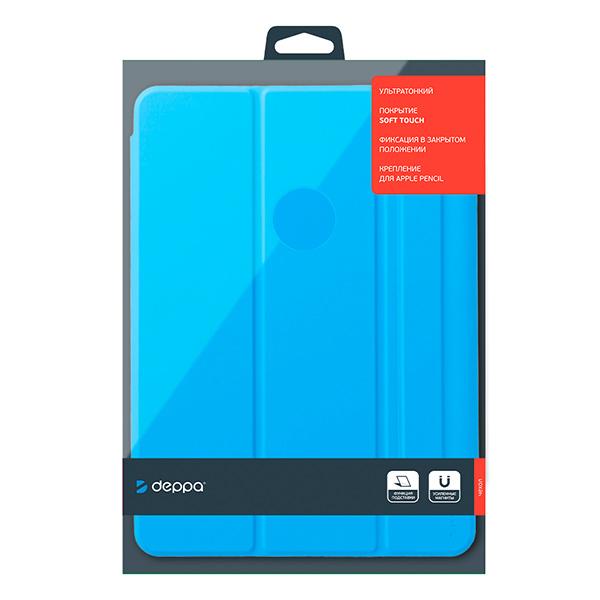 Чехол-книжка Deppa Wallet Onzo Magnet для Apple iPad Air 10.9 (2020) Голубой