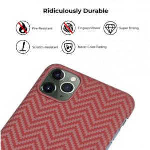 Кевларовый чехол Pitaka для iPhone 11 Pro Max Красно-Оранжевый