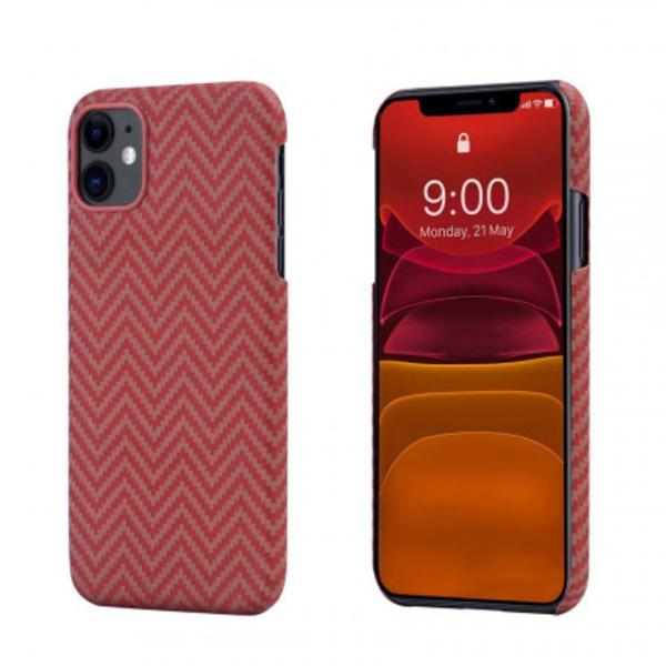 Кевларовый чехол Pitaka для iPhone 11 Pro Красно-Оранжевый