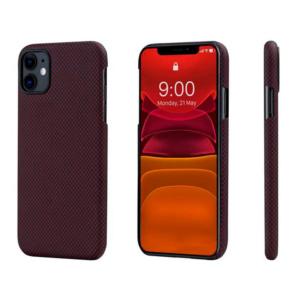 Кевларовый чехол Pitaka для iPhone 11 Черно-Красный мелкое плетение