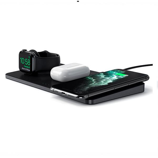 Беспроводное зарядное устройство Satechi Trio Wireless Charging Pad (черный)
