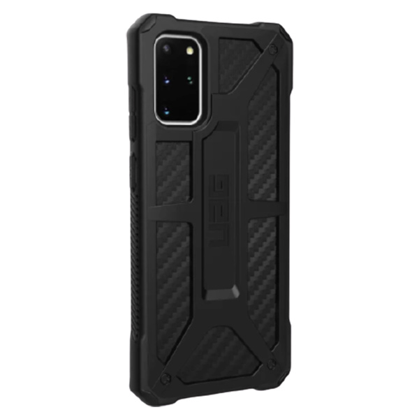 Чехол Uag Monarch для Samsung Galaxy S20+ чёрный карбон (Carbon Fiber)