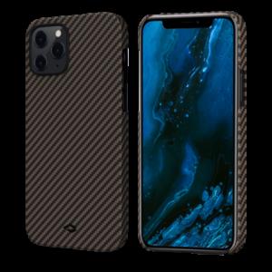 """Кевларовый чехол Pitaka MagEZ Case для iPhone 12 6.1"""", черно-коричневый"""