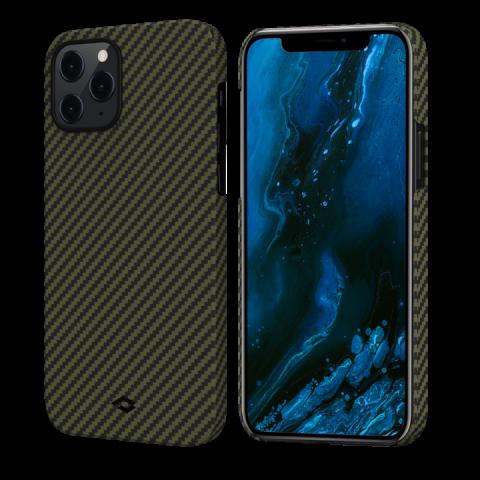 """Кевларовый чехол Pitaka MagEZ Case для iPhone 12 Pro 6.1"""", черно-зеленый"""