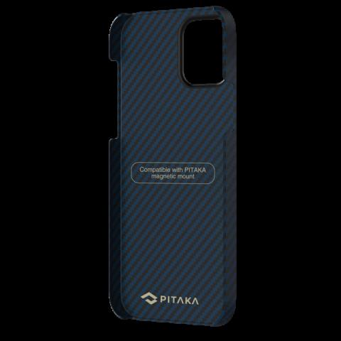 """Кевларовый чехол Pitaka MagEZ Case для iPhone 12 Pro Max  6.7"""", черно-синий"""